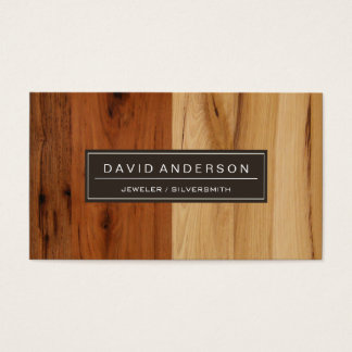 Jeweler / Silversmith - Wood Grain Look Business Card
