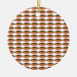 Jewelfishpattern9kwwb Ceramic Ornament