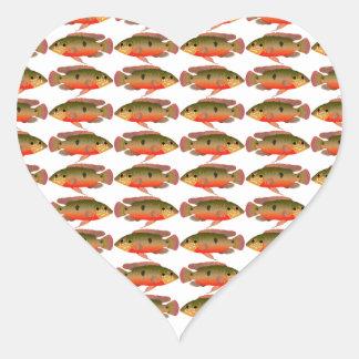 Jewelfishpattern9kwwb Heart Sticker