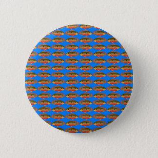 JewelfishPattern in sea blue 6 Cm Round Badge