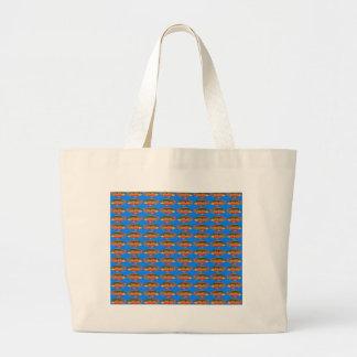 JewelfishPattern in sea blue Large Tote Bag