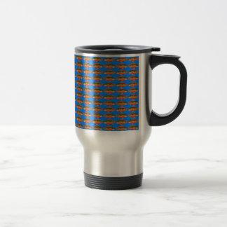JewelfishPattern in sea blue Travel Mug
