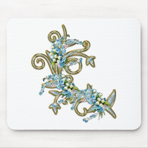 jewell flowers mouse mat