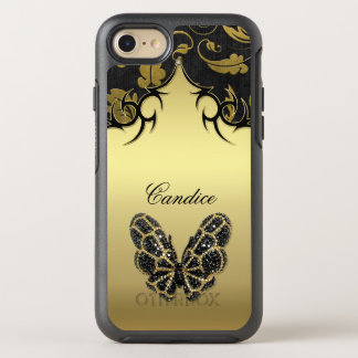 Jewelled Butterfly Damask OtterBox Symmetry iPhone 7 Case
