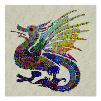 Jewelled Dragon Poster