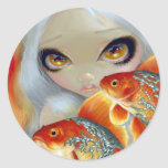 """Jewelled Fish:  Silver and Gold"" Sticker"