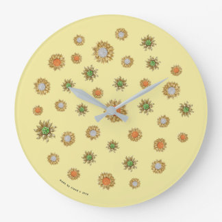 jewelled gold sunflower clock