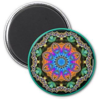 Jewelled Rainbows 11 Round Fridge Magnet