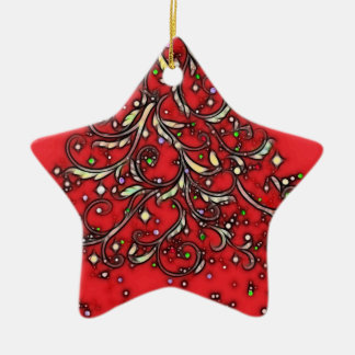 Jewelled Star! Ceramic Star Decoration