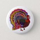 Jewelled Turkey 6 Cm Round Badge