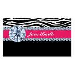 Jeweller Jewellery Zebra Print Diamond Sparkle Pack Of Standard Business Cards