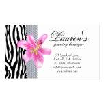 Jewellery Zebra Business Card Lily Flower