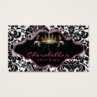 Jewelry Business Card Princess Crown Crown Damask