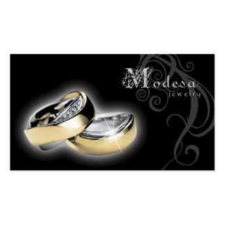 Jewelry Business Cards Engagement Rings Black