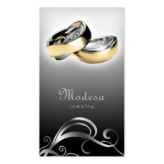 Jewelry Business Cards Engagement Rings Black G