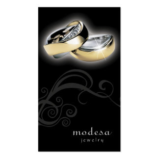 Jewelry Business Cards Engagement Rings Black V