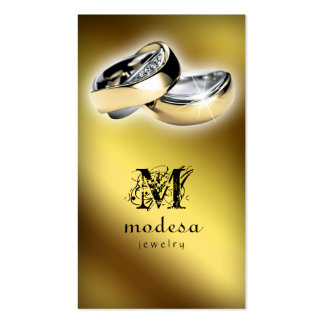 Jewelry Business Cards Engagement Rings Gold V