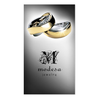 Jewelry Business Cards Engagement Rings Silver V