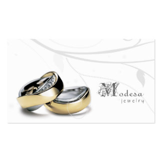 Jewelry Business Cards Engagement Rings White