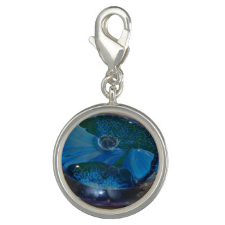 jewelry-charm-blue and green glass image