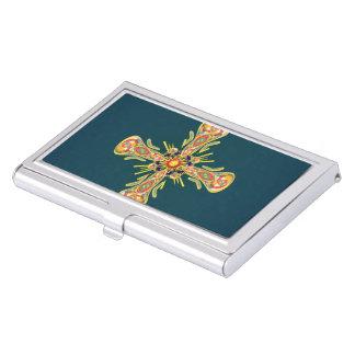 Jewelry cross business card holder