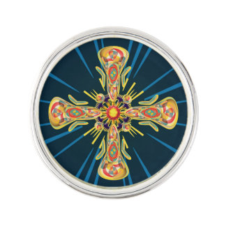 Jewelry cross lapel pin