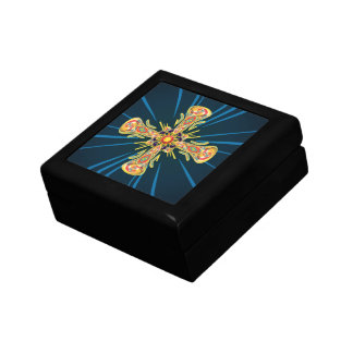 Jewelry cross small square gift box