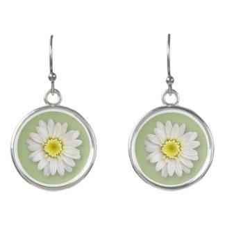 Jewelry - Earrings - Drop - Daisy on Sage