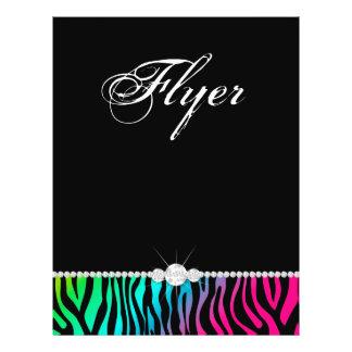 Jewelry Flyer Hair Salon Zebra Pink Blue Green