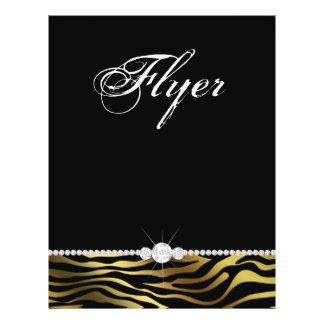 Jewelry Flyer Hair Salon Zebra Silver & Gold