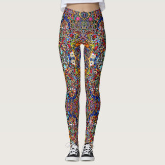 Jewelry inspired leggings colorful kaleidoscopic
