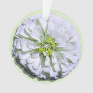 Jewelry - Pendant - Lemony White Zinnia