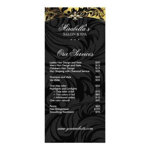 Jewelry Rack Card Fashion Fleur de lis Black Gold