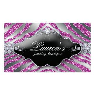 Jewelry Zebra Business Card Sparkle SB Pink