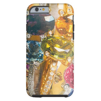Jewels collage gold amethyst aquamarine tough iPhone 6 case