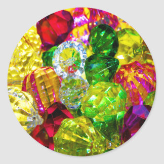 Jewels & Gems Of Brilliant Color Classic Round Sticker