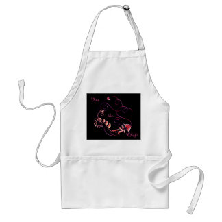 Jewels in Black 3 Standard Apron