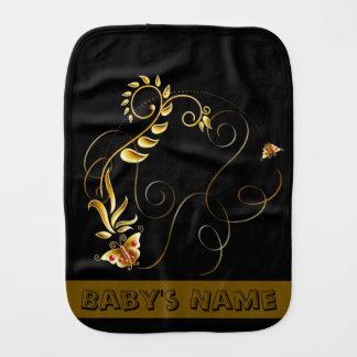 Jewels in Black Baby Burp Cloths