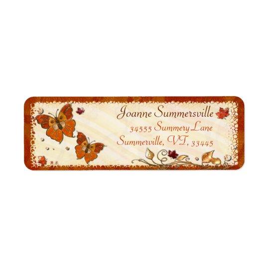 Jewels of Autumn Return Address Label