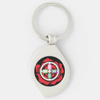 Jewels of the Earth Keychain Silver-Colored Swirl Key Ring