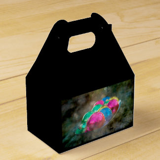 Jewels of the Forest Christmas Ornaments on Black Party Favour Box