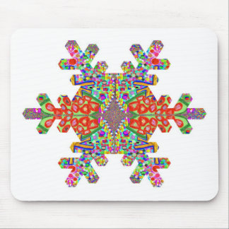 Jewels SnowFlake Shape TEMPLATE Resellers Festival Mousepad