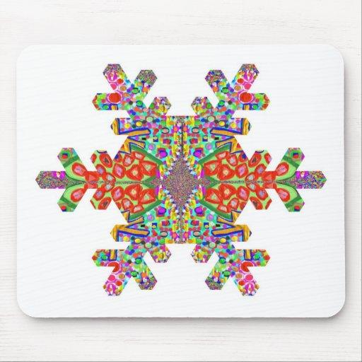 Jewels SnowFlake Shape TEMPLATE Resellers Festival Mousepad