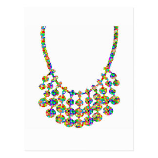 Jewels Strings Sparkle Graphic Deco Art by NAVIN J Postcard