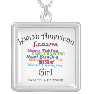 Jewish American Girl Silver Plated Necklace
