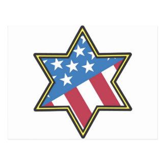 JEWISH AMERICAN STAR OF DAVID GIFT GIFT POSTCARD
