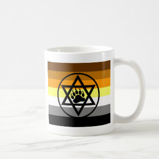 Jewish Bear Pride Flag Coffee Mug