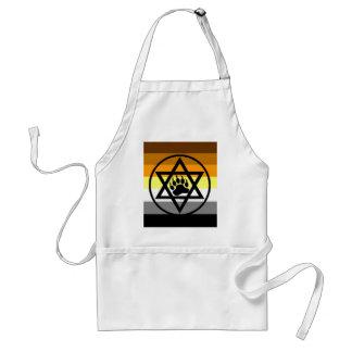 Jewish Bear Pride Flag Standard Apron