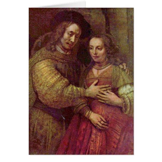 Jewish Bride Detail By Rembrandt Van Rijn Card