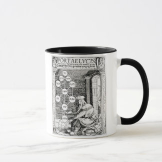 Jewish cabbalist holding a sephiroth, copy of an i mug